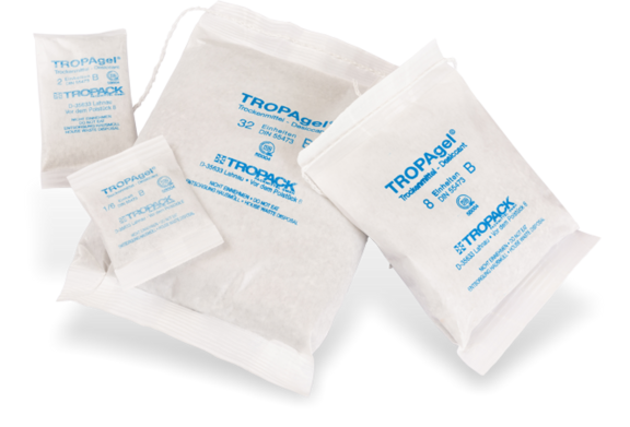 TROPAgel highly activated desiccant bags