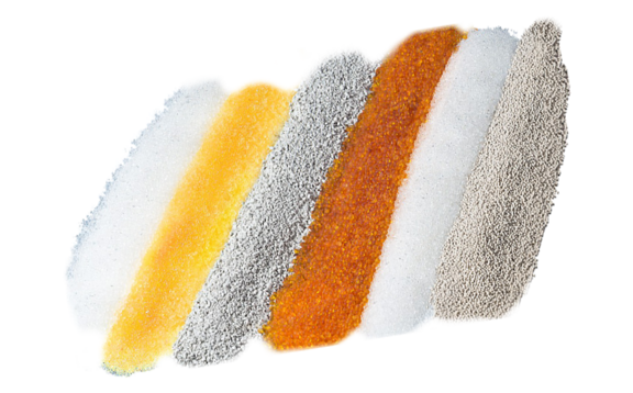 Be it silica gel, molecular sieves, Rubingel, orange gel, Envirogel or clay: Our highly activated desiccants come in various forms, including bulk